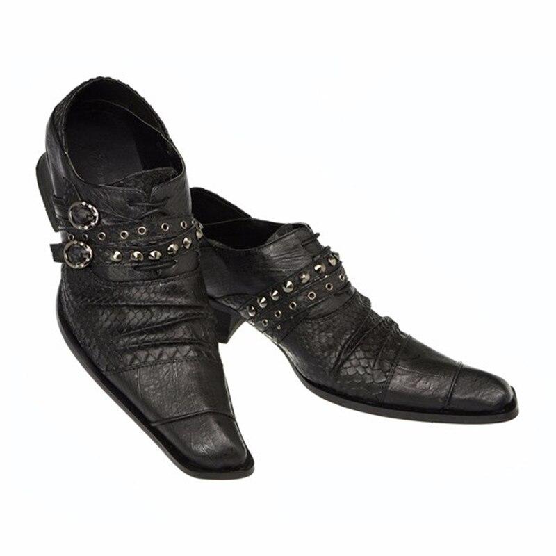 Mais Christia Bella Tamanho Do Sapatos Negócios Couro Preto Rebites Moda Oxford Quadrado Lace De Homens Up Dedo Genuíno Fivela Pé Italiano Shoes fwzwxqrd8