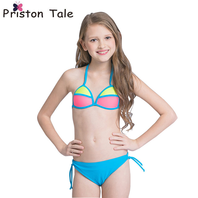 Newest Kids Children Bikinis Set Patchwork Beachwear ...