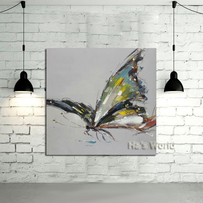 handpainted animals oil painting on canvas butterflies oil painting for living room support. Black Bedroom Furniture Sets. Home Design Ideas