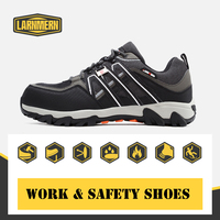 LARNMERN Steel Toe Cap Safety Work Boots For Men Breathable Reflective Anti smashing Anti puncture Non slip Protective Shoes