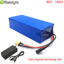 Electric Bike battery 60V 15Ah Li ion battery Motorcycle battery pack with Charger For Samsung cell(China)