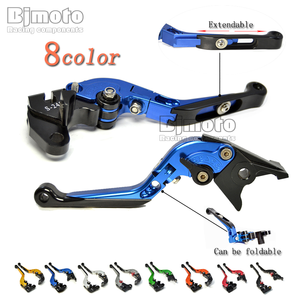 Motorcycle CNC Adjustable Folding Brake Clutch Levers for Kawasaki ER6n ZX-6 ZX9R VERSYS 650cc ZR750 ZEPHYR Z750S W800/SE ER-5 adjustable folding extendable brake clutch levers for kawasaki versys 1000 w800 zzr1200 zrx1100 1200 8 colors