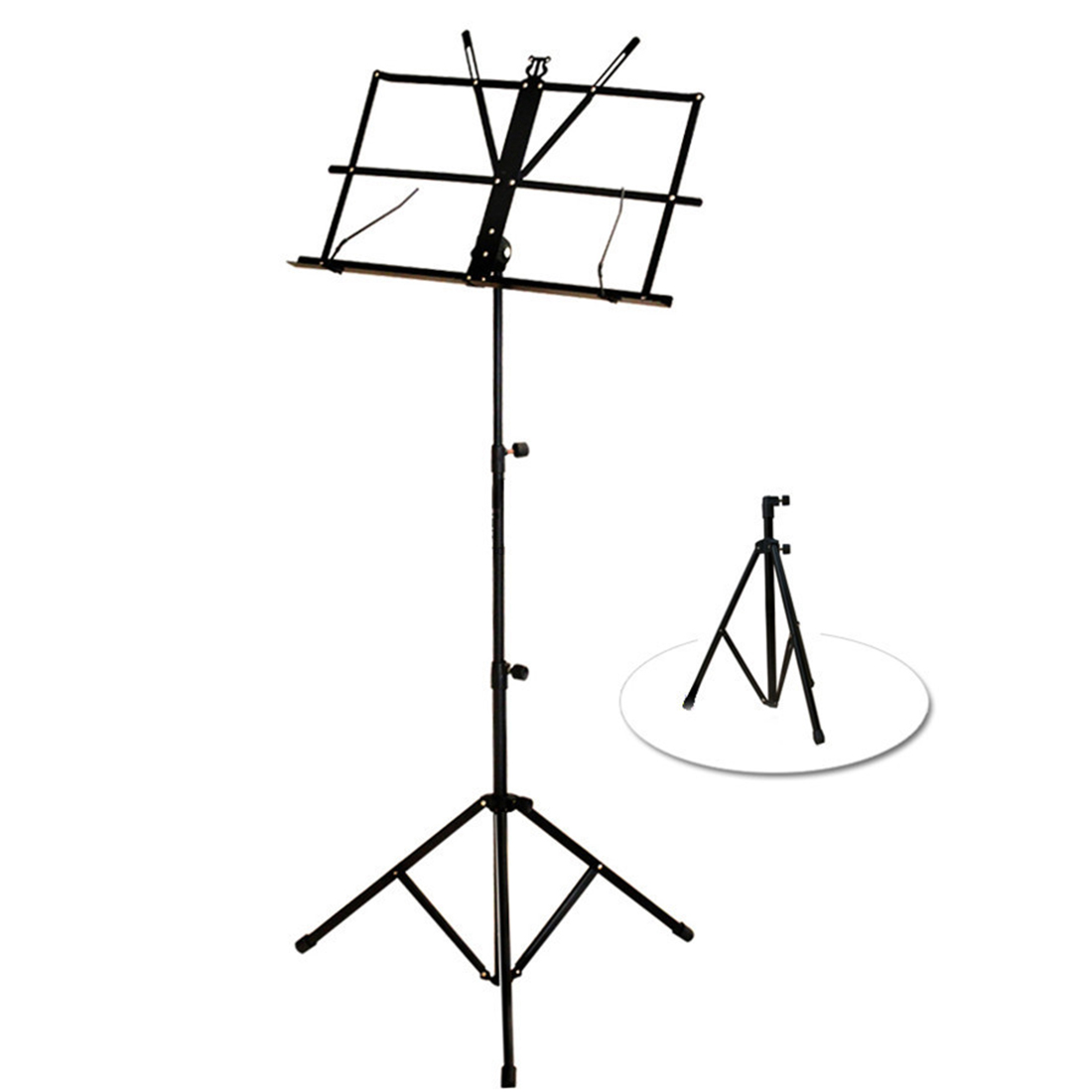 Ultra Light Foldable Adjustable Sheet Music Tripod Stand