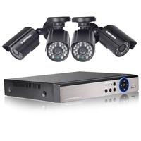 DEFEWAY HD 1080N 4 Channel CCTV System Video Surveillance DVR KIT 4PCS 1200TVL Home Security 4