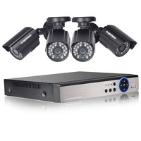 DEFEWAY HD 1080N 4 Channel CCTV System Video Surveillance DVR KIT 4PCS 1200TVL Home Security 4
