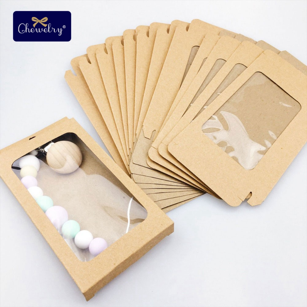 20pc Baby Gifts Merchandise Packing Box Decoration Baby Kraft Paper Wedding Wrapping Supply Nursuing Accessories Babys Teether