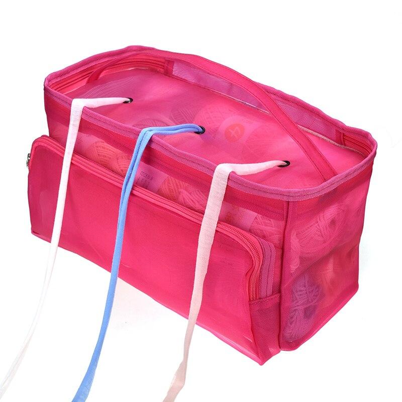 1xMesh Sewing Kit Bag DIY Hand Weaving Tools Organizer Hollow Weaving Yarn Bag^
