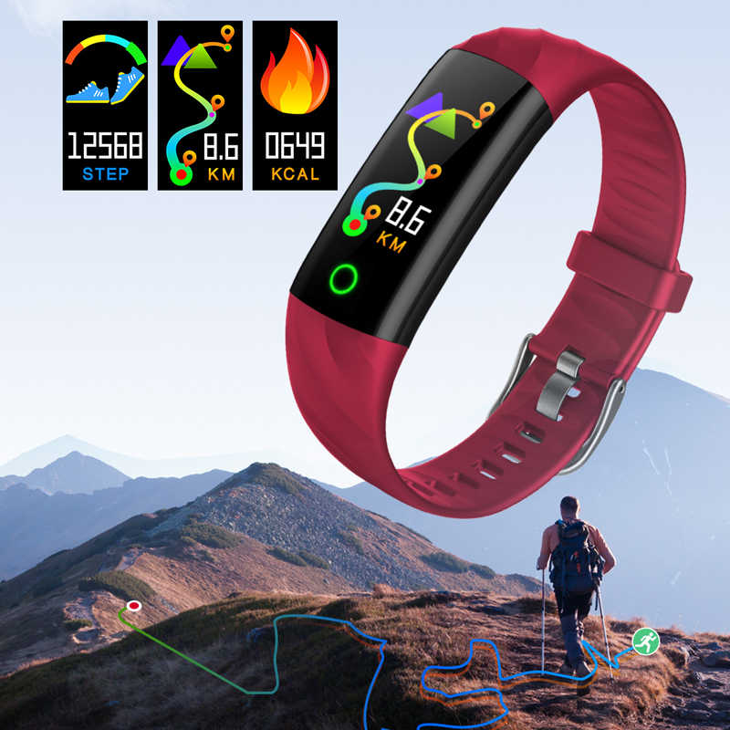 LIGE montre intelligente femmes IP68 étanche Sport Bracelet intelligent Fitness Tracker tension artérielle moniteur de fréquence cardiaque montre intelligente