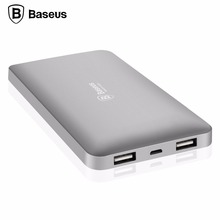 Baseus 10000mAh Dual USB Power Bank Portable Mobile Phone External Battery Charger Powerbank For iPhone 7 6 6s Xiaomi mi5 Redmi3