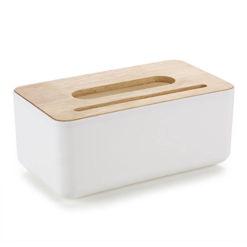 Plastic Tissue Box Plain Wooden Cover Paper with Oak Home Car Napkins Holder Case Home Organizer Decoration Tools in Tissue Boxes from Home Garden