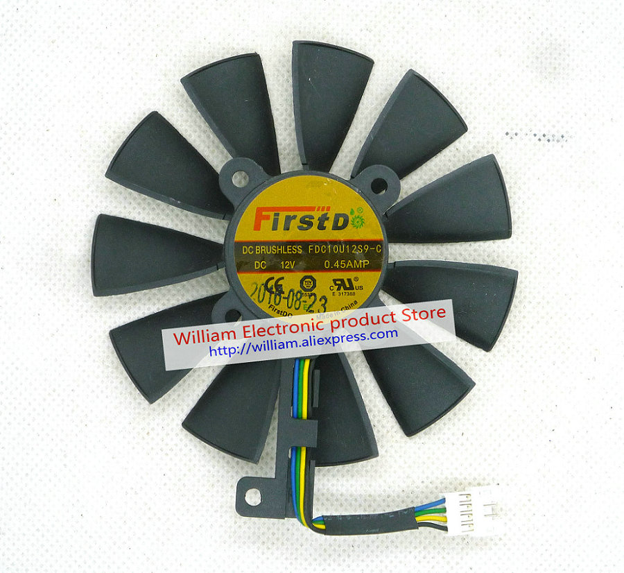 Original Graphic card cooling fan for STRIX RX480 O8G GAMING GTX1060 O6G GAMING GTX1070 FDC10H12S9 C FDC10U12S9 C FONSONING in Fans Cooling from Computer Office