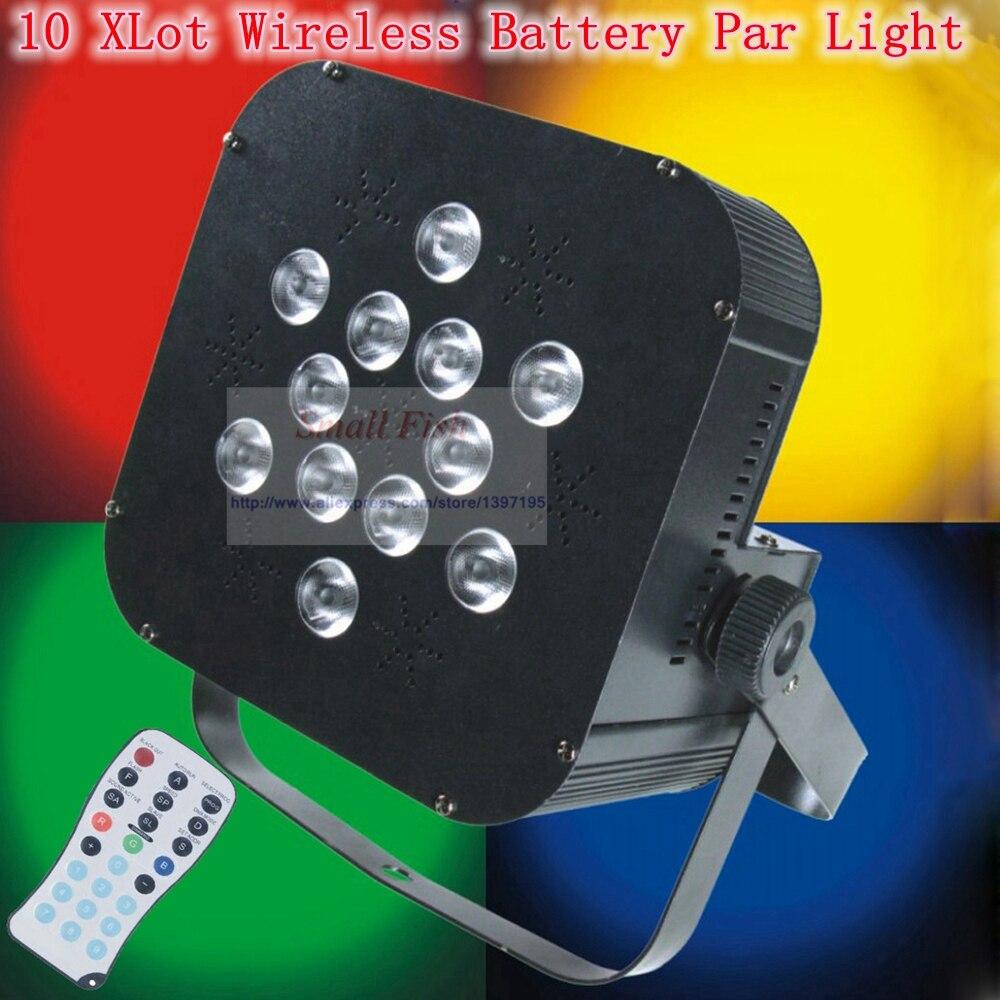 10 XLot 12X18 W RGBWA-UV 6IN1 lavage DMX LED Par lumières sans fil batterie scène lumières pour les Parties de Concert de mariage DJ équipement
