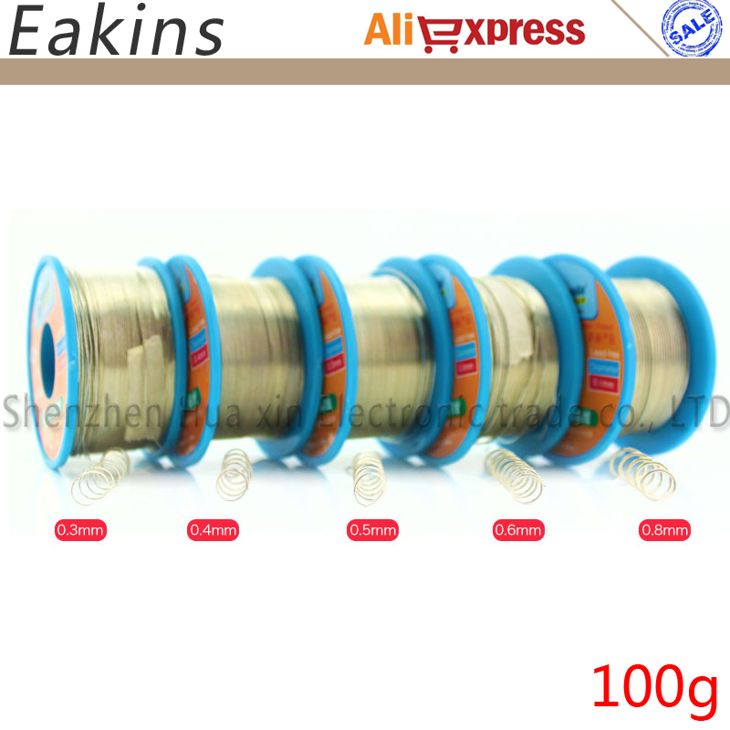 5pcs 0.3/0.4/0.5/0.6/0.8 Mm HK Mechanic Green Low Temperature Lead Free Soldering Tin Wire 100g Sn42/Bi58 Soldering Wire Roll