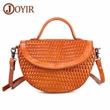 JOYIR Women Messenger Bags Genuine Leather Shoulder Bag Women's Leather Shell Handbags Bag Ladies Hand Bags Women's Tote Purse стоимость