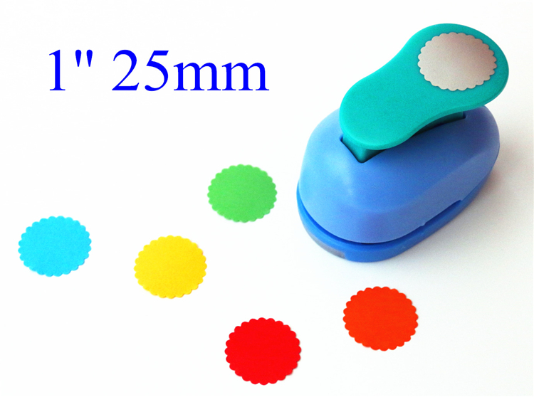 1''2.5cm  Waves Round Punch Diy Craft Hole Punch Eva Foam Puncher Kids Scrapbook Paper Cutter Scrapbooking Punches Embossing
