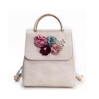 Women Girl Flower Student Shoulder Tote School Book Zipper Bag Handbag Backpack