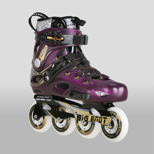 Adult's Roller Skates No4 Black White Purple Inline Skating