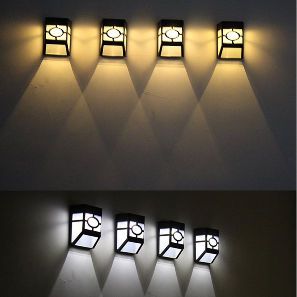 LED Solar Powered Wall Lantern Light Lamp Weatherproof Outdoor Garden Home Decor