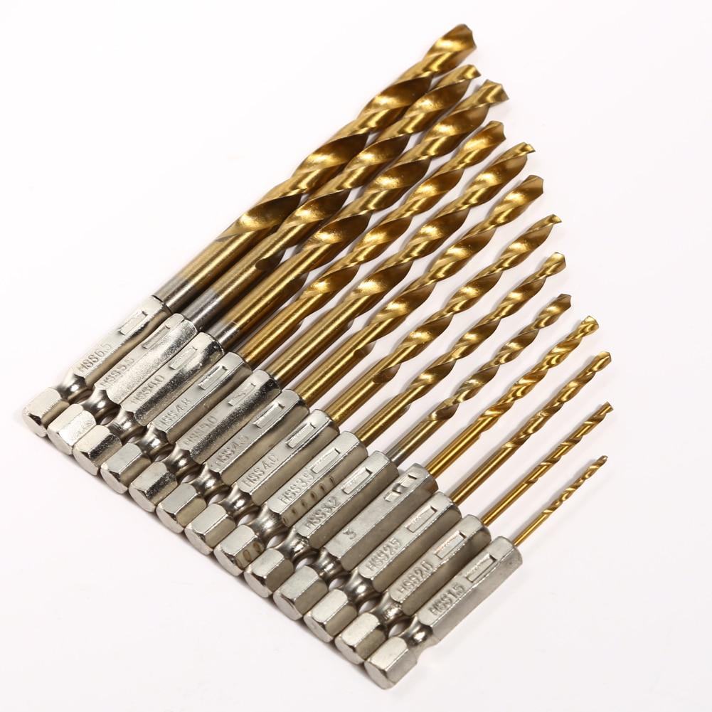 13 tk / komplekt HSS keerdpuurvarda 1,5–6,5 mm kiire titaankattega - Puur - Foto 2