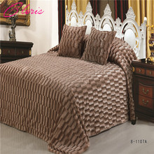 """CLORIS"" Luxurious Solid Color Blanket 220 *240CM Throw Bedspread on the bed For Christmas Gift"