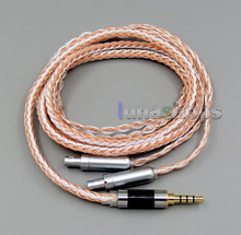 3.5mm 4pole TRRS Re-Zero Balanced 16 Core OCC Silver Mixed Earphone Cable For Senheiser HD800 HD800s LN005843 3 5mm balanced trrs re zero balanced silver plated cable for sennheiser hd800 headphone headset