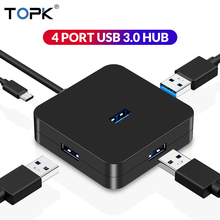 TOPK USB 3.0 HUB 4 Port Multi Splitter High Speed 200MB/S&Micro Charging Adapter for MacBook Samsung Huawei