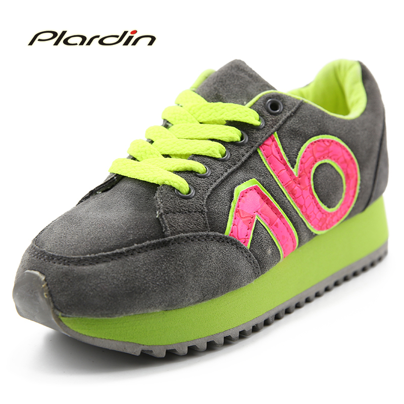 Plardin New Genuine Leather Casual Shoes Woman Balance Walking Leather Loafers Oxford Shoes For Women Ballerina Sneakers Shoes