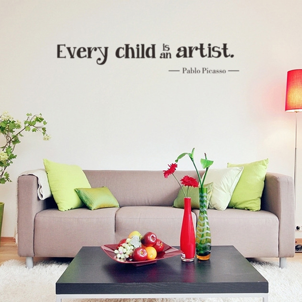 Kids bedroom wall stickers - Every Child Is An Artist Wall Stickers Vinyl Removable Kids Bedroom Wall Decals China