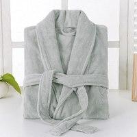 Winter Bathrobe Mens Thick Kimono Cotton Men's Robe Towel Fleece Bath Robe Male Sleepwear Nightgown Loungewear Pajamas Robes
