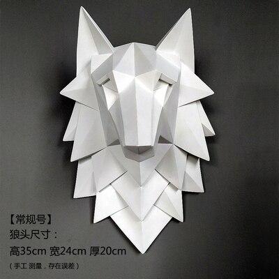 Интерьер нордическая Геометрическая голова Волка украшение стены гостиной украшение стены креативная бар стенной декор для кафе три dime - 3