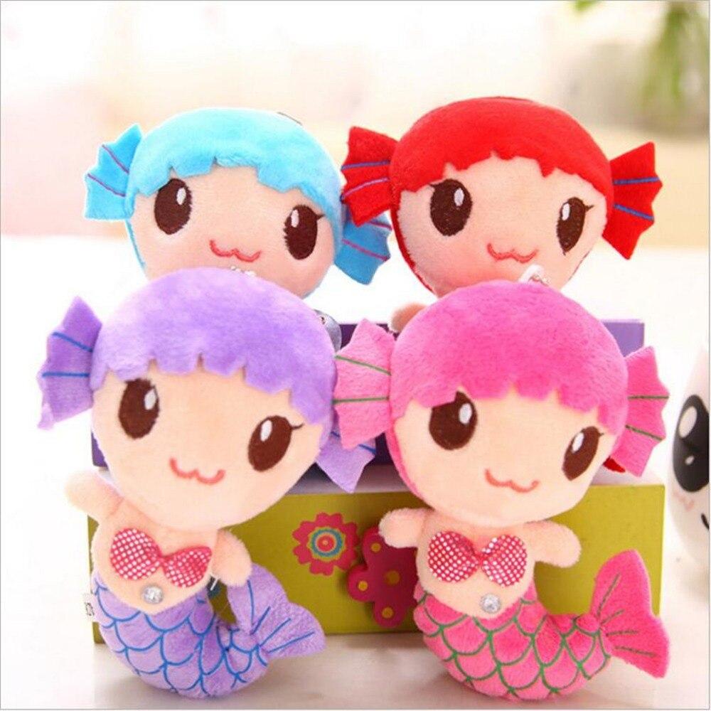 1PCS Cute Sea-maid Mermaid Princess Stuffed Crystal Toys Baby Girls Plush Dolls Toys Random send 2019 New