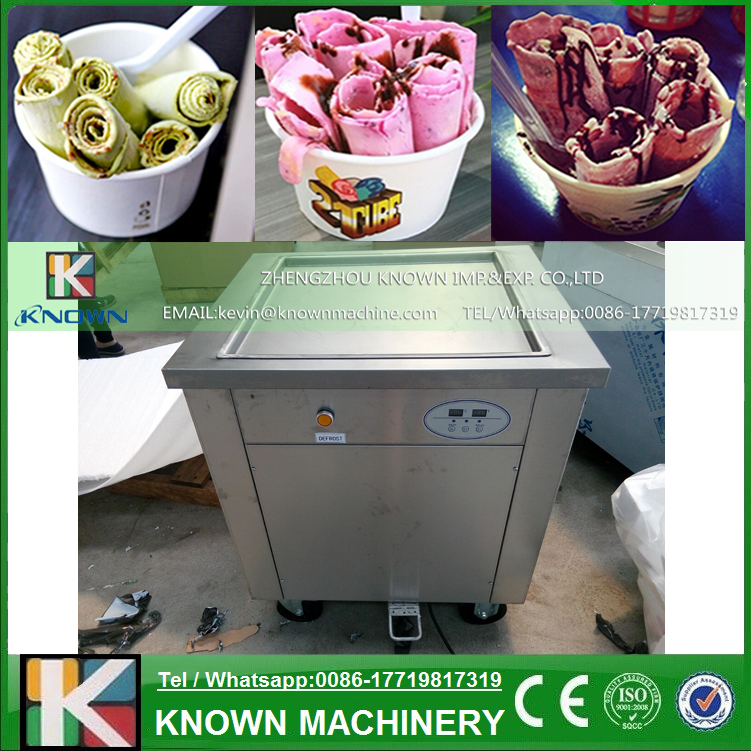 110V 1200W Fried Ice Cream Roll Machine Specificial for People in USA Use / Best Quality Single Pan Fried Ice Cream Machine110V 1200W Fried Ice Cream Roll Machine Specificial for People in USA Use / Best Quality Single Pan Fried Ice Cream Machine