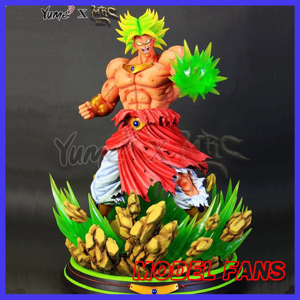 все цены на MODEL FANS INSTOCK Dragon Ball Z MRC 58cm super saiyan Broli GK resin statue contain led light figure toy for Collection онлайн