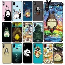 Yinuoda Cute Totoro Spirited Away Ghibli Miyazaki Phone Case Cover for Xiaomi Mi Note 3 6 8 8SE MIX 2 2S Redmi 5 Plus Note 5(China)