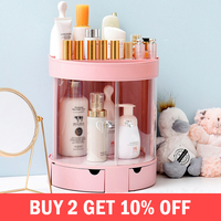 Transparent Makeup Organizers Women Fashion Cosmetics Jewelry Lipstick Earrings Collection Holder Box Desktop Bathroom Supplies