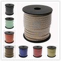 2 Row Silver Aluminum Studded Korea Faux Suede Cord 5x2mm Jewelry Findings about 20yards/roll