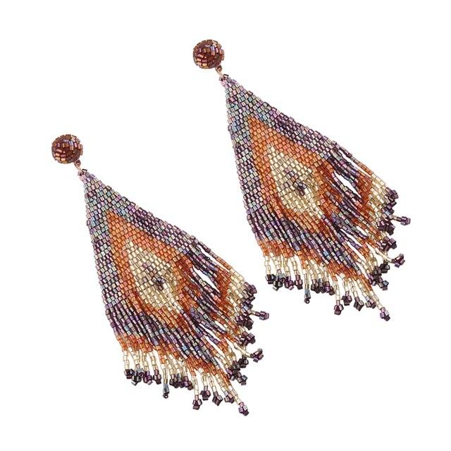 Handmade Beads Long Earrings  2