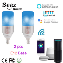Boaz E12 Smart Wifi Bulb RGBW Led Smartlife Light Wifi Voice Control Alexa Echo Google Home IFTTT Tuya Smart APP control 2pcs