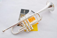 Trumpet 2018 Top Selling Silver Bass Trumpet C Drop LT197GS 96 Professional Performance Level Musical Instruments Free Shipping