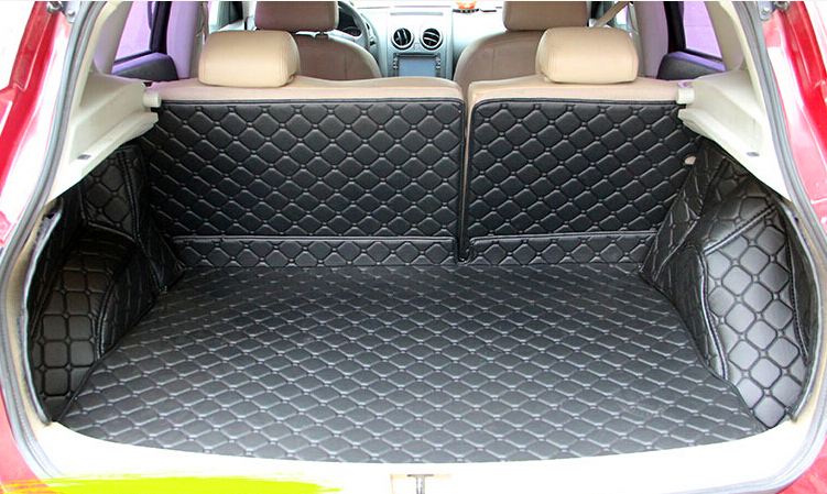 Good carpets! Special trunk mats for Nissan Qashqai 2018-2015 waterproof boot carpets cargo liner for Qashqai 2017,Free shipping