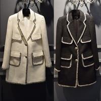 Tweed winter coat women,elegant long coat,fashion casaco feminino,custom plus size xs 6xl long coat,abrigos mujer invierno 2016,