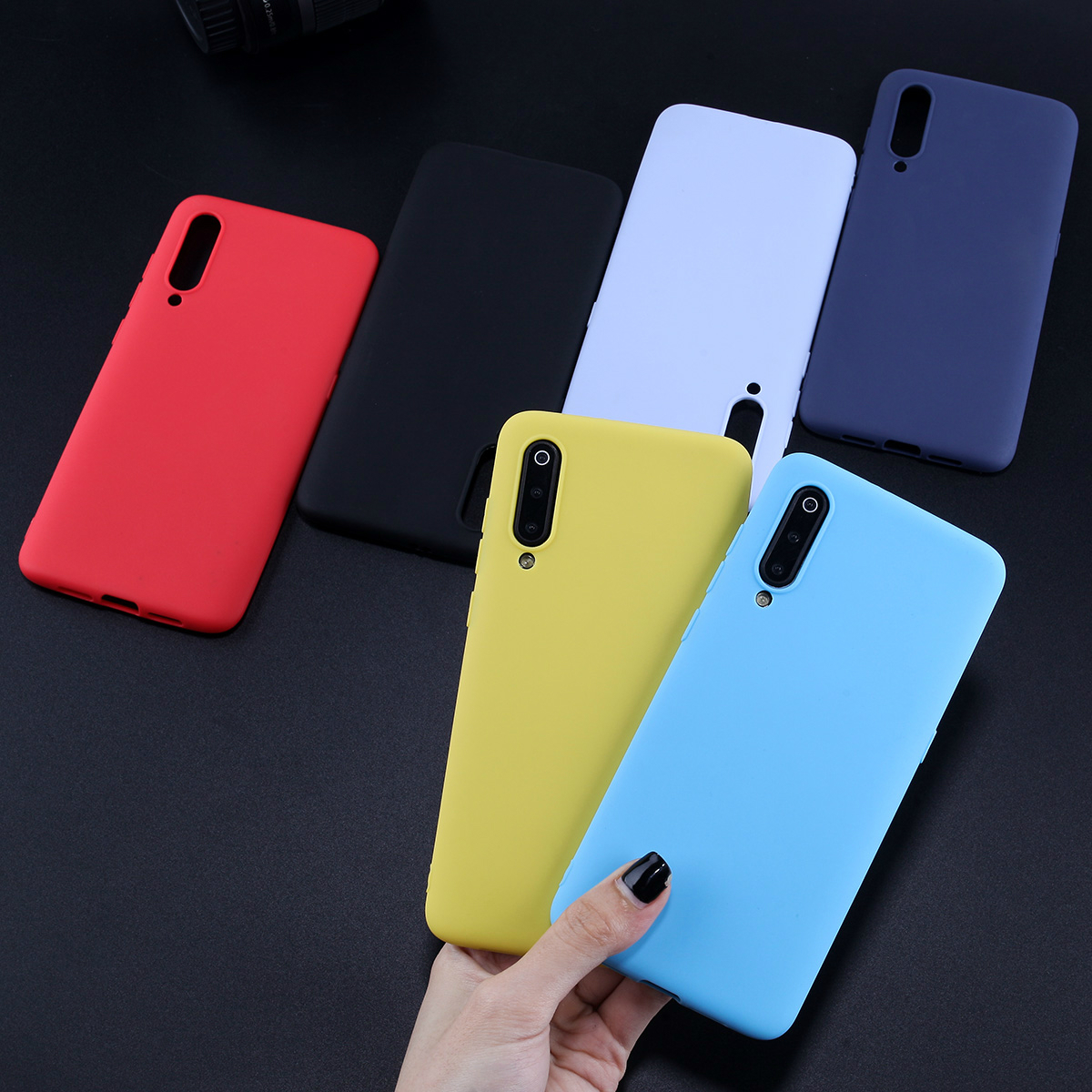 Case For Xiaomi Redmi Mi 8 Candy Color Cover For Xiaomi Mi 9 8 Lite Redmi 4X 4A 5A 5Plus 6Pro Note 7 5 6 Pro TPU Silicone Capas in Fitted Cases from Cellphones Telecommunications