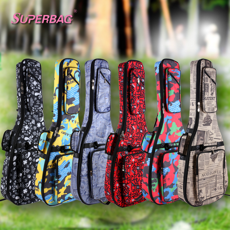 Electric Guitar  Waterproof Thicken 9 mm Bag Case Backpack Guitarra Accessories Parts Carry Gig Material Oxford Cloth ukulele bag case backpack 21 23 26 inch size ultra thicken soprano concert tenor more colors mini guitar accessories parts gig