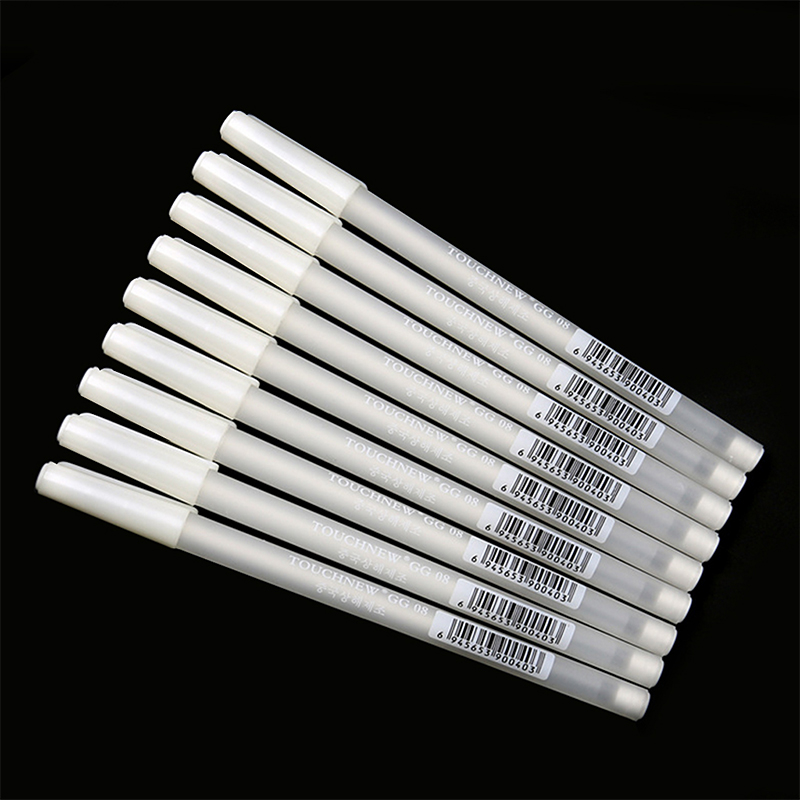 Marker Pen   White Hook Liner Pens Black Paper Highlighter Reviser 0.8mm New