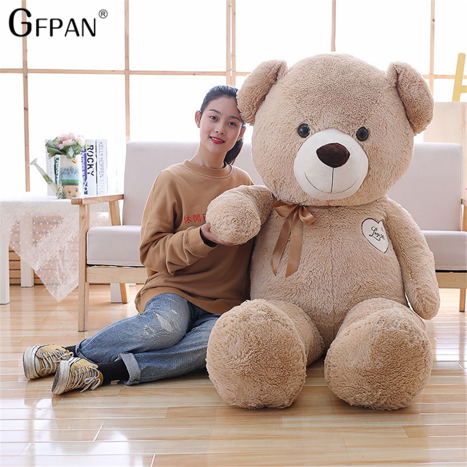 90cm New Giant Kawaii Stuffed Teddy Bear With Bowknot Classical Doll Soft Plush Toy Birthday Gifts For Girlfriends Hot Selling