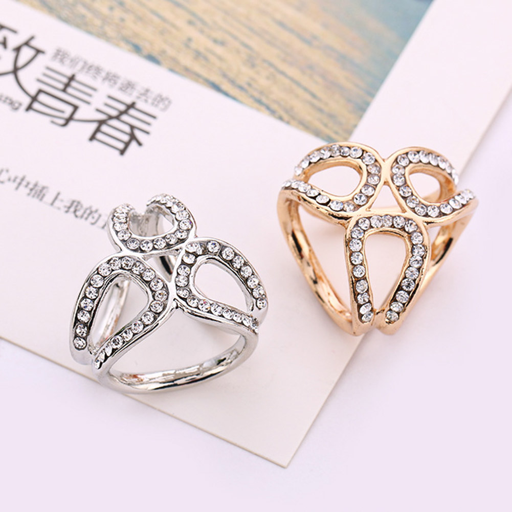 Simple Gold And White Color Tricyclic Scarf Brooch Jewelry Corsage For Women Shawl Buckle