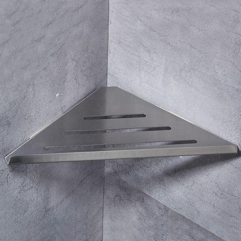 304 stainless steel bathroom shelf silver brushed bathroom products storage organizer rack. Black Bedroom Furniture Sets. Home Design Ideas