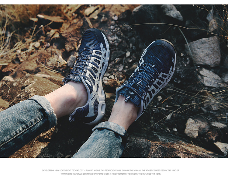 New 2017 Summer Unisex Aqua Shoes Air Mesh Clorts Outdoor Shoes Women Sneakers Lace Up Breathable Hiking Shoes Size 35-44 V1 (45)