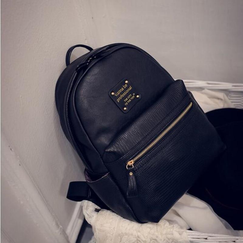 New Fashion Women Backpacks Women's PU Leather Backpacks Girl ...