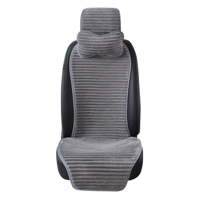 2018 car seat Winter Nano Velvet Car Seat Cushion With Headrest Cover Universal Protector Car Styling 1 PCS car seat protector
